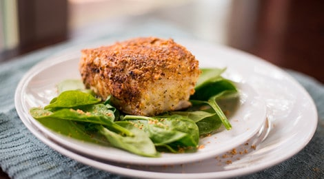 Almond-Crusted Sea Bass