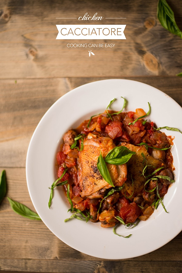 35 Easy Chicken Recipes - One Pot Chicken Cacciatore