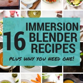 16 Immersion Blender Recipes | My favorite kitchen appliance is definitely my stick blender because it can make so many things, including sauces, soups, lattes, whipped cream, and so much more.  Learn my best tips for how to use an immersion blender, including tons of recipes that use a blender.  This post is sponsored by Braun. #ConquerTheExpected #MultiQuick9