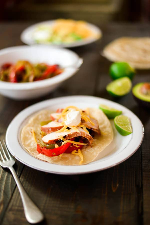 Marinated Chicken Fajitas