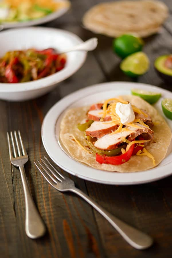 35 Easy Chicken Recipes - Marinated Chicken Fajitas