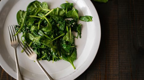 Garlic Sauteed Spinach