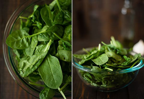 Garlic Sauteed Spinach - Fresh Spinach Leaves