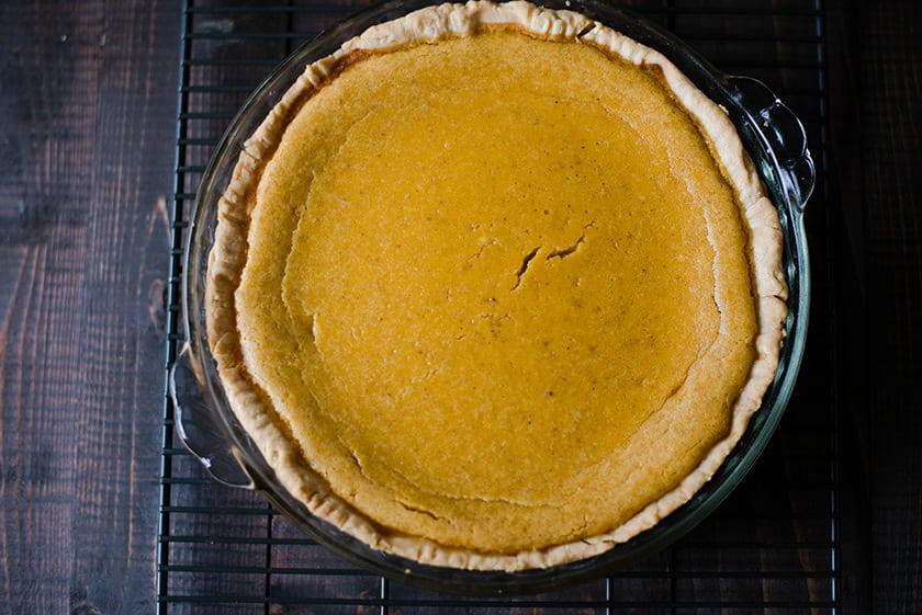 Pumpkin Pie From Scratch - Cooling