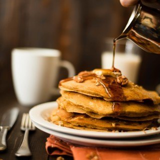 Fresh Pumpkin Pancakes | Because pumpkin and pancakes need to be together. www.asweetpeachef.com