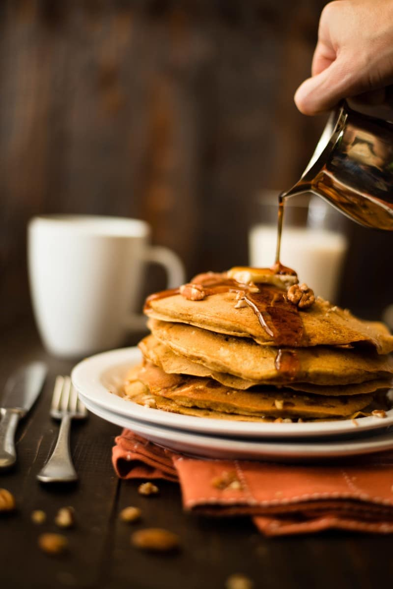 Healthy Pumpkin Pancakes | Easy To Make With Fresh or Canned Pumpkin Puree!