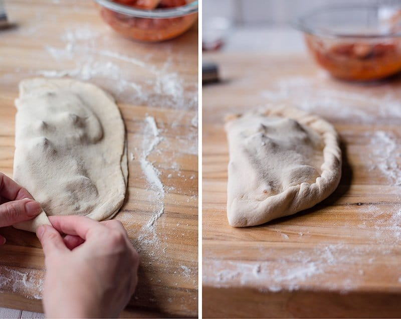 How To Make A Calzone - Shaping Calzone Dough