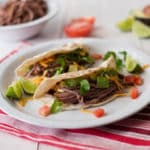 Crock Pot Shredded Beef Tacos Square Recipe Preview Image