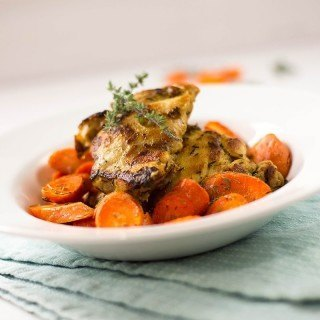 Dijon-Roasted Chicken And Carrots