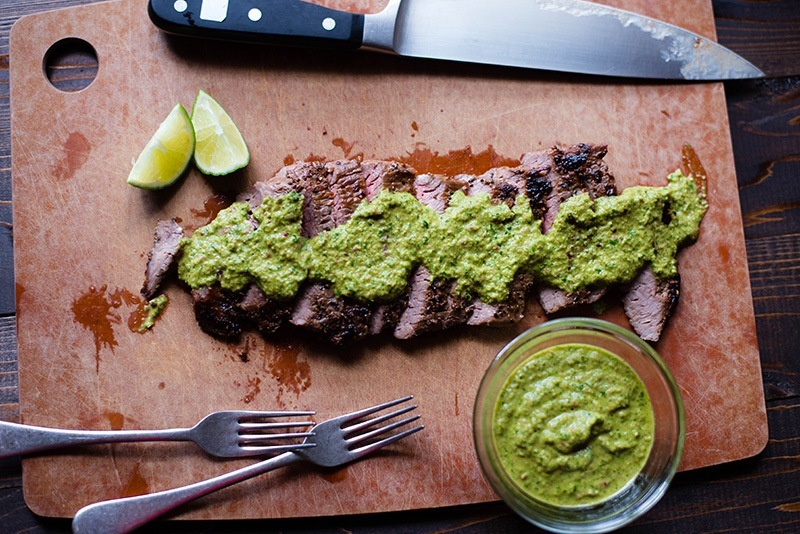 Flank Steak With Chimichurri Sauce • A Sweet Pea Chef