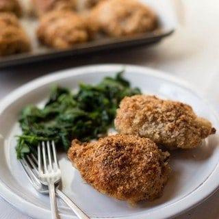 Panko Baked Chicken Thighs