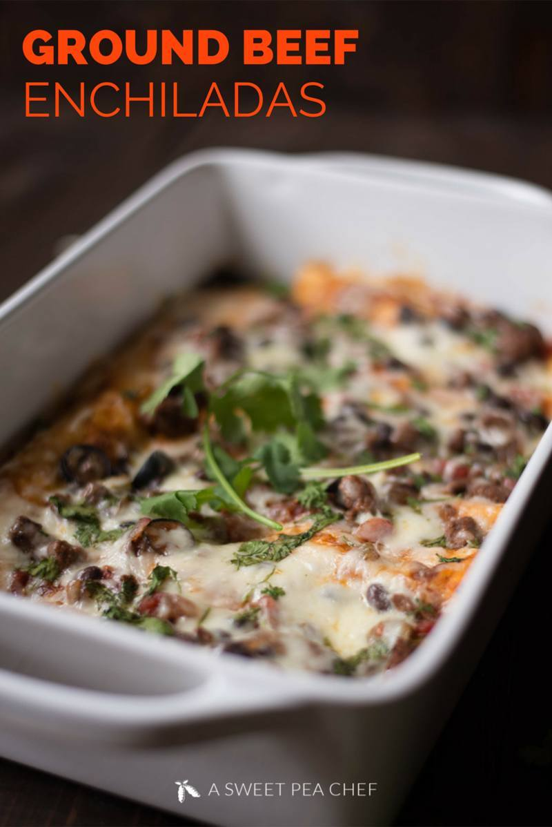 My 20 Favorite Cinco De Mayo Recipes - Ground Beef Enchiladas