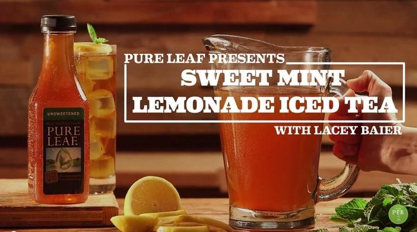 Sweet Mint Lemonade Iced Tea