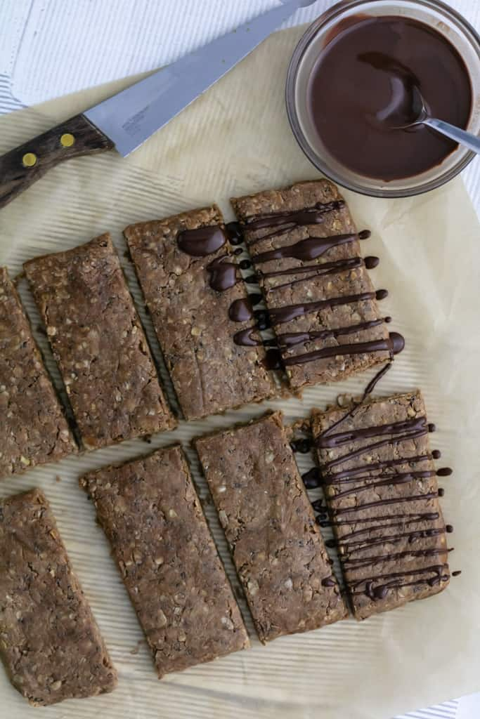 Homemade Chocolate Peanut Butter Protein BarsHomemade Chocolate Peanut Butter Protein Bars