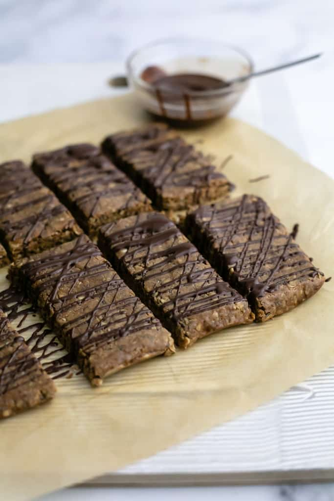 Homemade Chocolate Peanut Butter Protein Bars