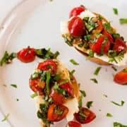 Fresh Tomato Basil Bruschetta | Clean Ingredients
