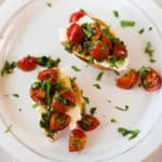 Tomato Basil Bruschetta Square Recipe Preview Image