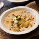 Light Baked Potato Soup Square Recipe Preview Image