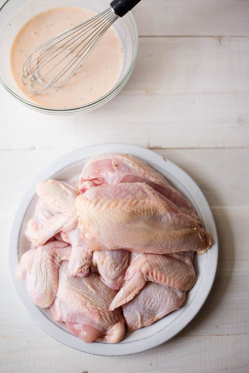 Best Buttermilk Fried Chicken Recipe - Ready To Go In Marinade