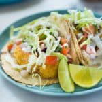 How to Make Baja Fish Tacos | Crispy, spicy, and fresh, these Baja Fish Tacos are a taco dream come true. The flavors stay balanced with a homemade Pico de Gallo and Creamy White Dill Sauce for your your fresh fish tacos. So dang delicious, you won't know what hit you! Keep reading for a step-by-step guide on how to make Baja Fish Tacos! | A Sweet Pea Chef