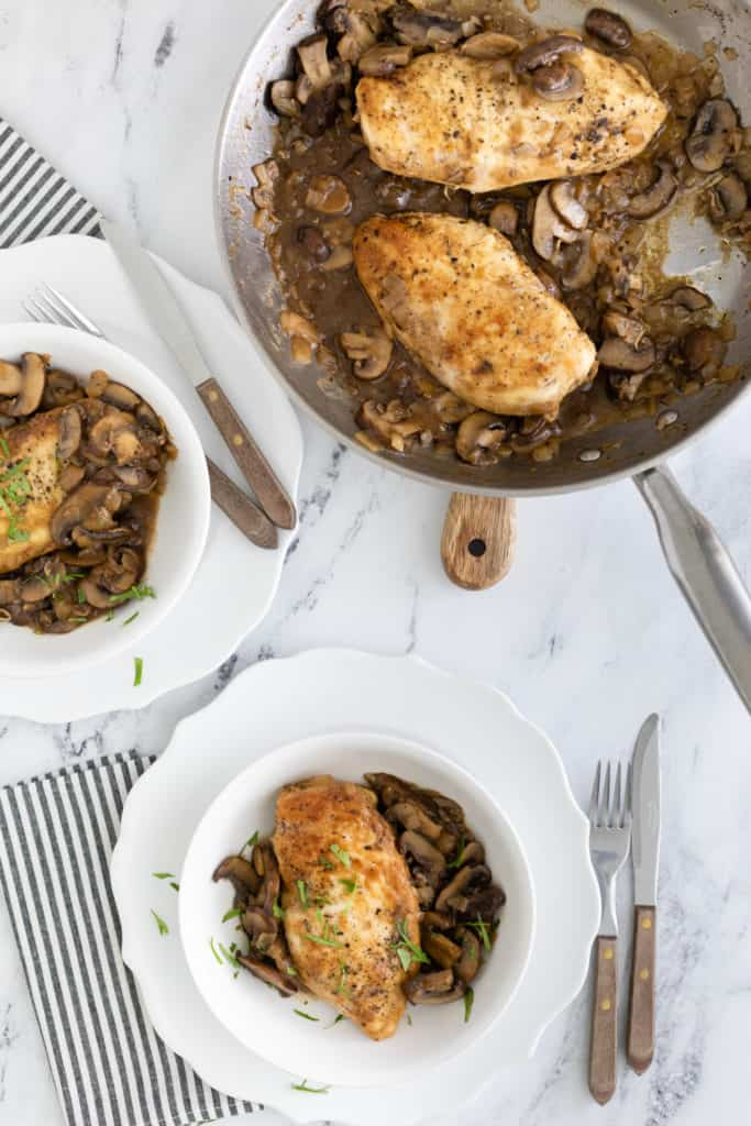 Are you looking for an irresistible chicken recipe for dinner tonight? This Healthy Chicken Marsala is it! Made with boneless chicken breasts, mushrooms, and Marsala wine, you're going to love this dish!