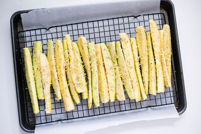 Parmesan Baked Squash And Zucchini Spears | Easy, Fast, Healthy & Delicious! www.asweetpeachef.com