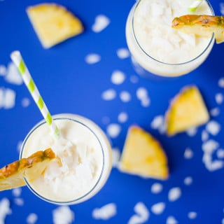 Healthy Pina Colada Smoothie + Dairy-Free