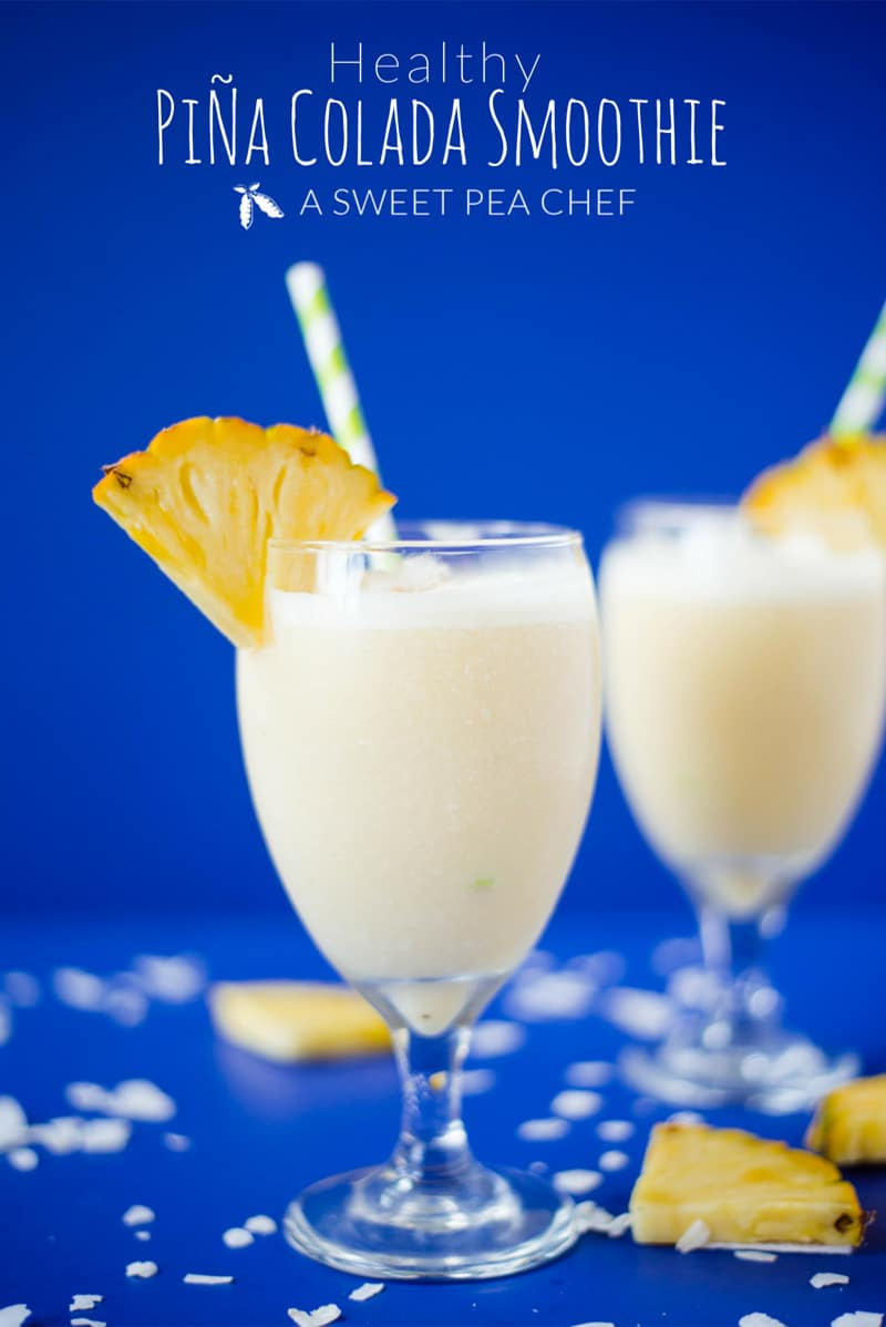 Healthy Pina Colada Smoothie - A healthy and non-dairy alternative to fruity pina coladas usinf Coconut Dream Yogurt | Recipe and photos by Lacey Baier of www.asweetpeachef.com #asweetpeachef