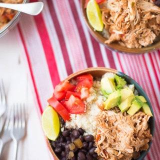 Slow Cooker Chicken Burrito Bowls