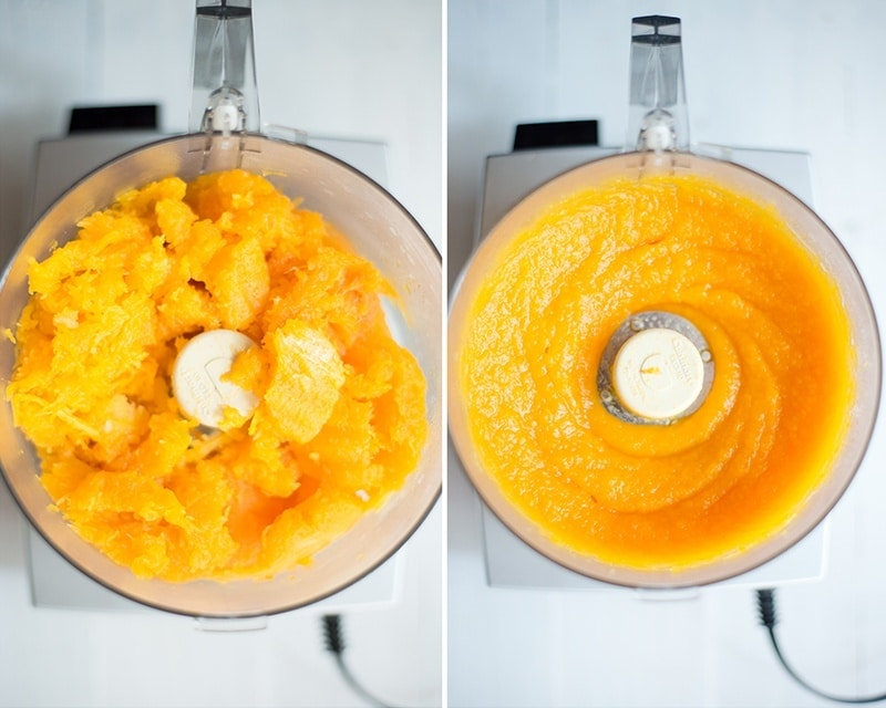 How To Make Butternut Squash Puree | Perfect for the Fall! www.asweetpeachef.com