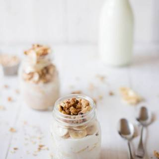 Banana Nut Overnight Oats With Walnuts