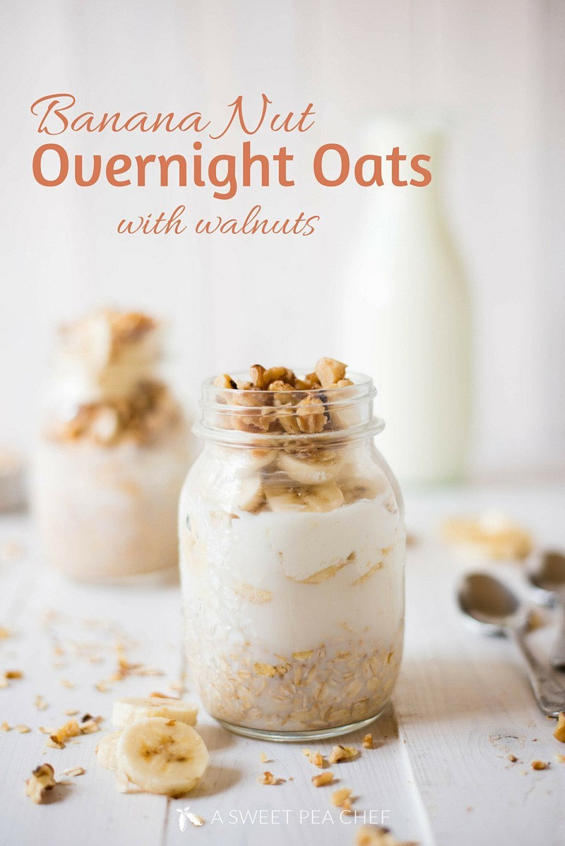 Banana Nut Overnight Oats | The reason why ripe bananas were invented. www.asweetpeachef.com