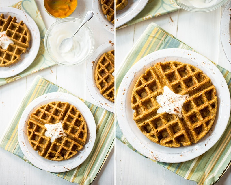 Butternut Squash Waffles | Healthy, whole grain, no unrefined grains or sugar. DELICIOUS! www.asweetpeachef.com