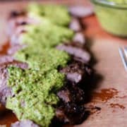 Flank Steak With Chimichurri Sauce | Fresh Herbs And Flavor