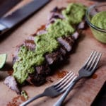 Flank Steak With Chimichurri Sauce Square Recipe Preview Image