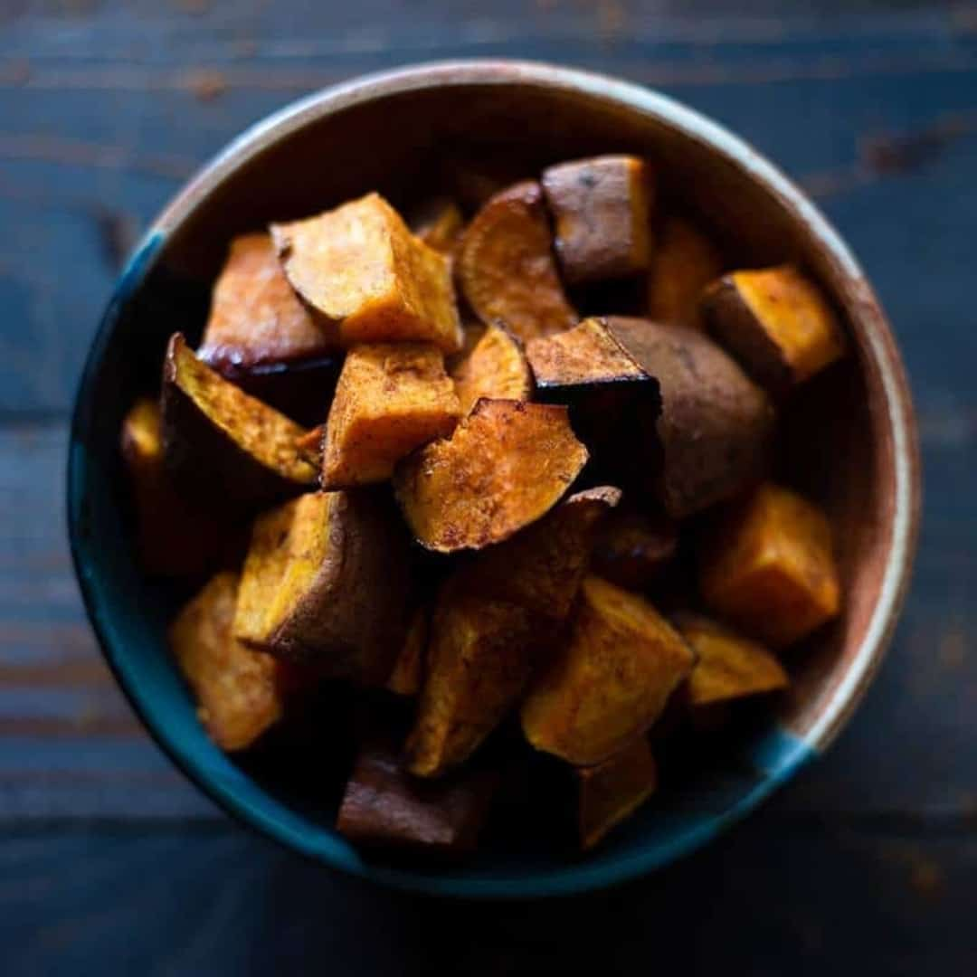 Healthy Roasted Sweet Potatoes With Coconut Oil