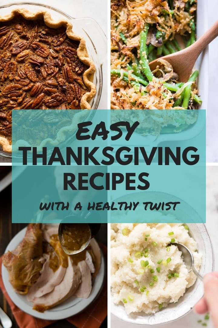 These healthy Thanksgiving recipes will help you plan your holiday menu to include flavorful and delicious foods that suit your healthy living lifestyle. I've separated the post into categories to make the perfect celebration easy to accomplish. Enjoy!