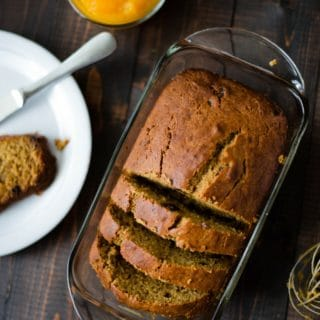 Healthy Pumpkin Bread With Raisins