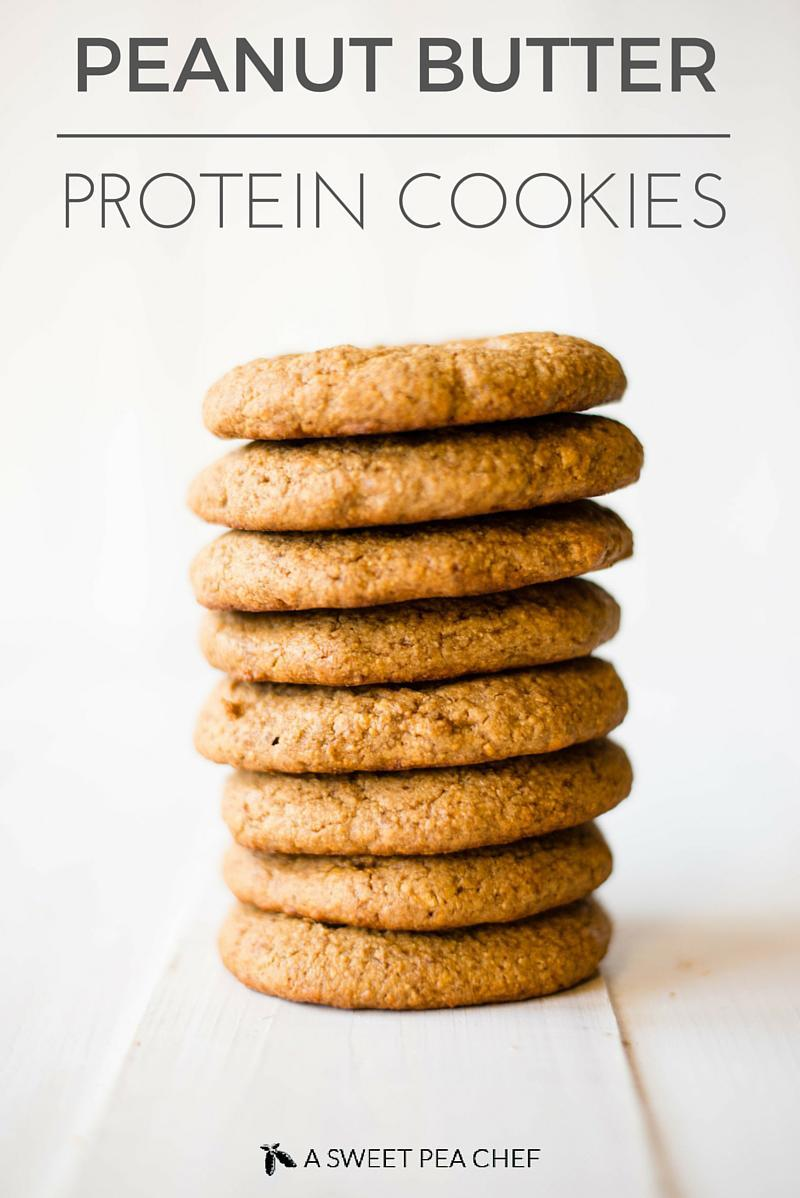 Peanut Butter Protein Cookies | 4 ingredients, refined grain-free ...