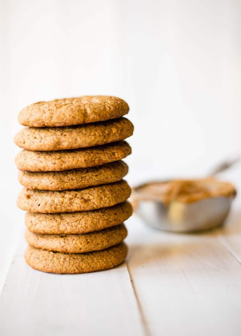 Peanut Butter Protein Cookies | Peanut Butter Protein Cookies | These easy peanut butter protein cookies are flourless, only require 4 ingredients, and take less than 25 minutes to make! Each cookie contains 9 grams of protein and tastes just like a soft peanut butter cookie! | A Sweet Pea Chef