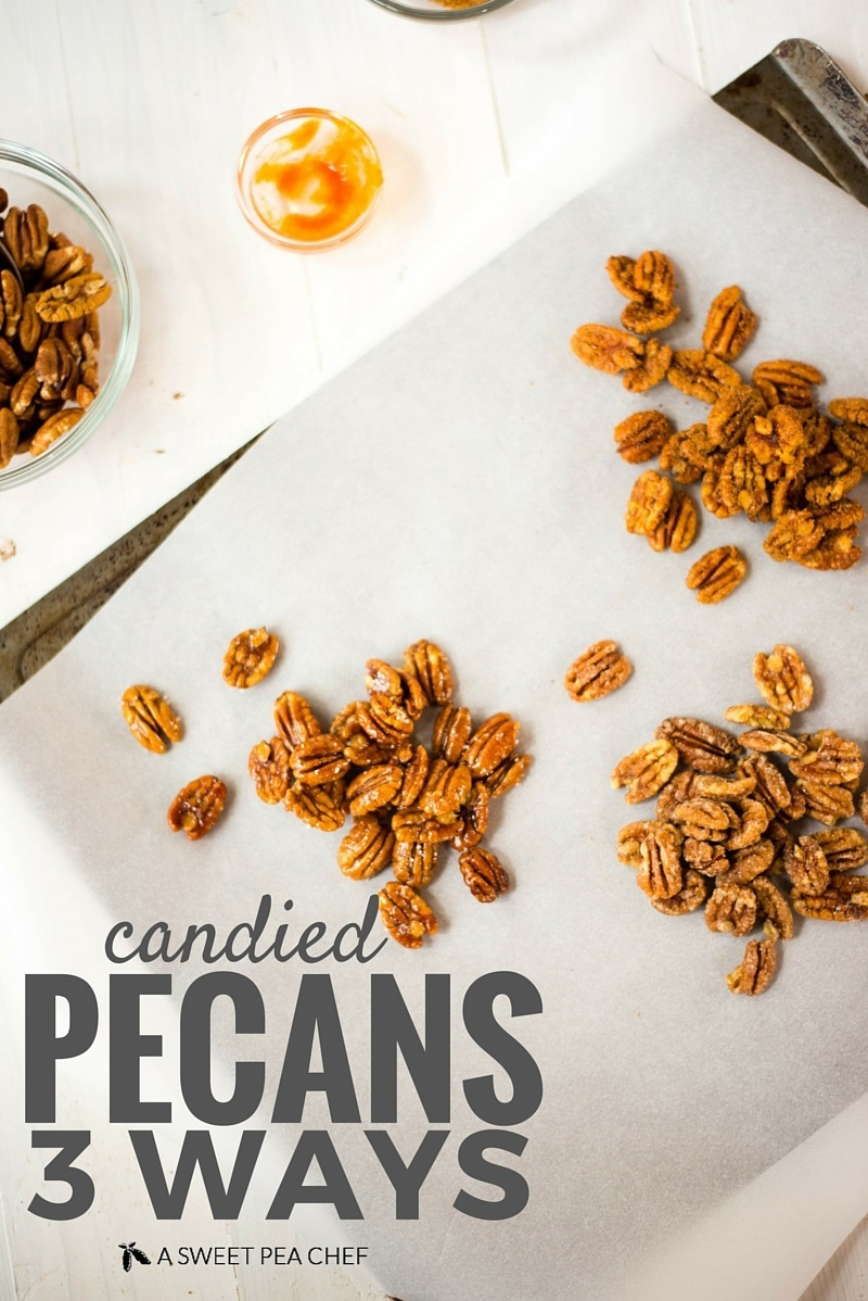 Candied Pecans Three Ways (That Are Totally Healthy!)   www.asweetpeachef.com