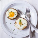 Baked Eggs In Spaghetti Squash Nests Square Recipe Preview Image