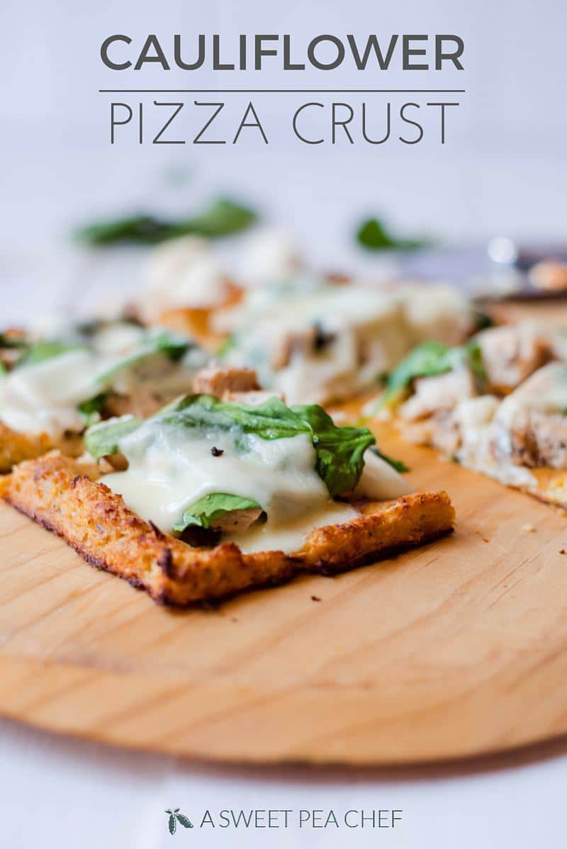 How To Make Cauliflower Pizza Crust | Want a healthier pizza crust? Try this cauliflower pizza crust recipe and satisfy your pizza cravings without cheating on your healthy lifestyle. Plus tips for how to make cauliflower pizza crust vegan, dairy-free, or without a food processor! | A Sweet Pea Chef