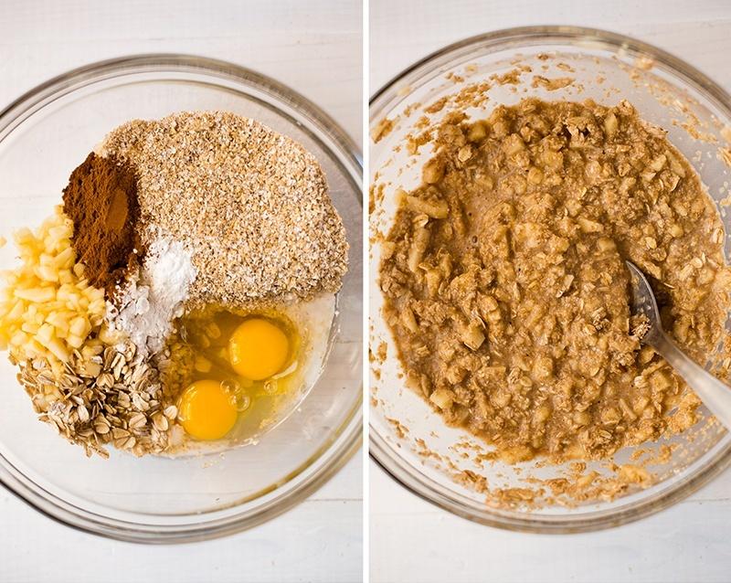 Apple Cinnamon Oat Bran Pancakes | Clean, guilt-free pancakes! www.asweetpeachef.com