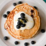 Lemon Blueberry High Protein Pancakes Square Recipe Preview Image