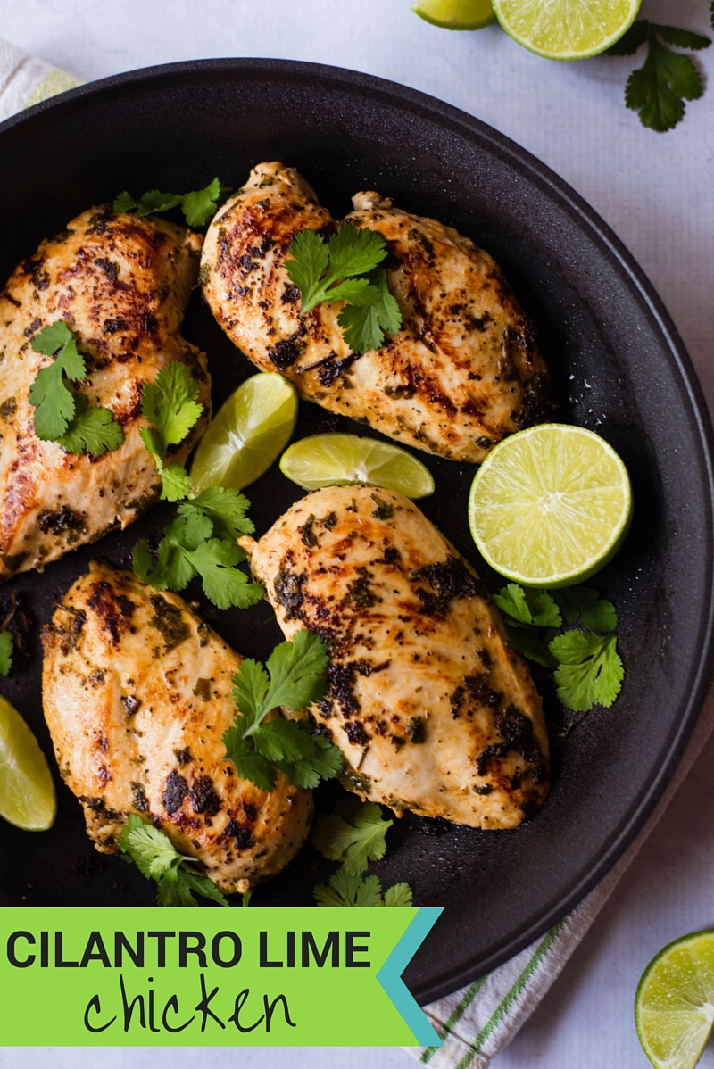 Cilantro Lime Chicken | This easy Cilantro Lime Chicken recipe is quick to make and has tons of flavor.  Perfect chicken marinade for grilling, baking, or sautéing and freezes well, too.| asweetpeachef.com