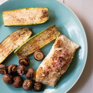 Baked Sea Bass Sheet Pan Recipe | With Zucchini & Mushrooms