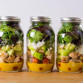 Make-Ahead Mason Jar Salads For The Week + A Killer Clean Honey Mustard Dressing!