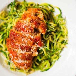 Healthy Baked Chicken Parmesan | Clean. Gluten-Free. Easy. Healthy baked chicken parmesan. | asweetpeachef.com