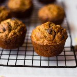 Healthy Banana Chocolate Chip Muffins | No refined sugar or flour - just simple, clean goodness! | asweetpeachef.com